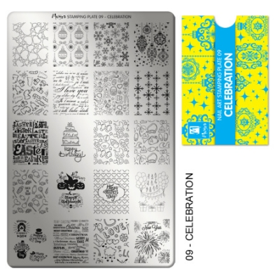 stamping plate 09 celebration