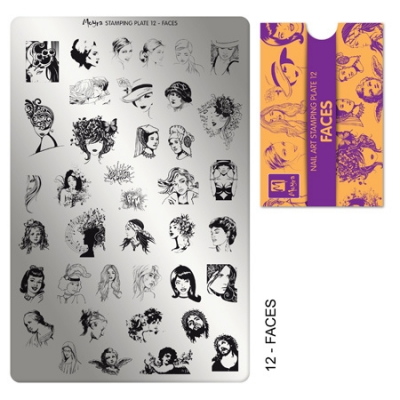 stamping plate 12 faces