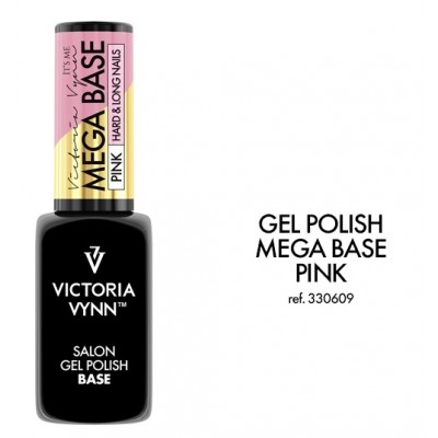 salon gel polish mega base hard & long nails pink